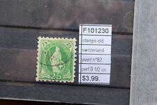 STAMPS SWITZERLAND YVERT N°82 PERF.9 1/2 USED (F101230)