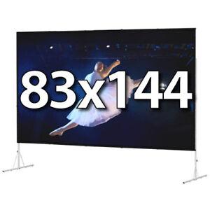 DA-LITE 88630HD - FAST-FOLD DELUXE 83x144 COMPLETE KIT - DA-TEX REAR - HD-LEGS