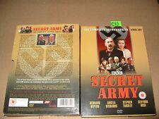 Secret Army Series 2 (DVD, 2004) 4 dvd + Inlays are Near Mint/Outer box vg Reg 2