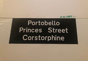 "RT Lothian Scottish Bus Blind 80's 30""- Portobello Princes Street Corstorphine"