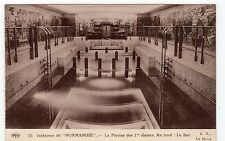 SS NORMANDIE: SHIPPING POSTCARD (C4525).