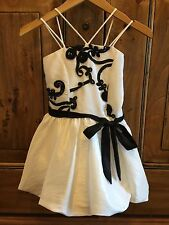Black And White Flower Girl Dress Size 4yr Formal Dress NWT kids size 4 Boutique