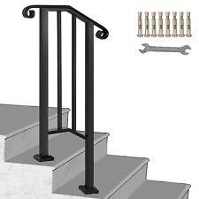 Fits 1 or 2 Steps Handrail Picket #1 Matte Black Paver Steps Office Matte Black