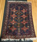 Old Pakistan Hand Woven Area Rug Wool Label