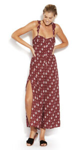 Seafolly Water Garden Antique Paisley Print Maroon Jumpsuit Size XS (8) - BNWT