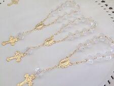 50 Mini Rosary Gold Plated/ Baptism  Favors/recuerdos De Bautizo/ Minirosary