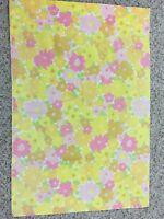 VTG 60's 70's Pillowcase Pink Yellow Gold Daisies MC Flower Power Mod Groovy USA