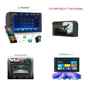 """7"""" Double 2 DIN Head Unit Car Stereo MP5 Player Touch Screen Radio FM/AUX Audio"""
