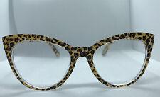 NEW💖 +2.50 Betsey Johnson Reading Glasses CAT EYE Tan Leopard Readers💗