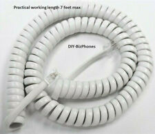 Generic White 12 Ft Handset Cord Phone Curly Coil Foot 4p4c New In Factory Bag