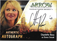Arrow Season 4 Auto Autograph Card Charlotte Ross Donna Smoak CHR Cryptozoic