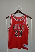 Vintage Michael Jordan Jersey Chicago Bulls #23 Champion Red NBA Youth M 10-12