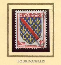 STAMP / TIMBRE FRANCE OBLITERE N° 1002 BLASON BOURBONAIS