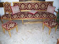 Divano 4 posti Luigi XVI antico autentico del 1700 restaurato e ritappezzato