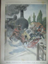 TRAIN FIACRE PASSAGE A NIVEAU BERENX ORTHEZ AMIRAL GERVAIS LE PETIT JOURNAL 1901