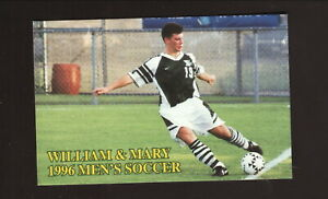 William & Mary Tribe--1996 Soccer Pocket Schedule--Best Western