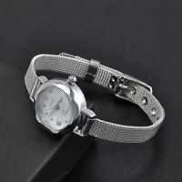 Fashion Women Watch Stainless Steel Crystal Dial Quartz Wrist Watches Bracelet