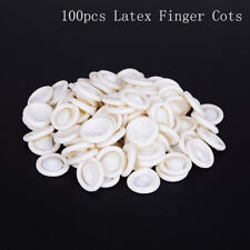 100x rubber latex finger cots eyebrow extension gloves eyelash extension toolSC