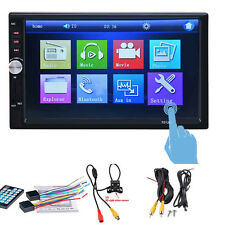 7'' 2DIN Auto In-Dash A/V MP5 Player HD Touch Screen Stereo Radio Blueteeth Cam
