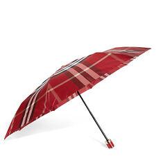 Burberry Check Folding Umbrella - Parade Red