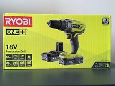 Ryobi R18PD3-215GZ 18 V ONE+ Cordless Combi Drill Set 2 x 1.5 Ah Batteries NEW!!