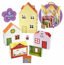 Peppa Pig  6 IN 1 WORLD OF PLAYSETS - 6 Houses & Figure - NO BOX