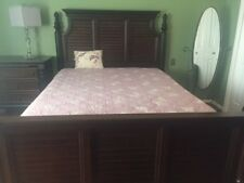 Bedroom Set w/king panel,side,full dresser & media chest. Heavy,GREAT Condition