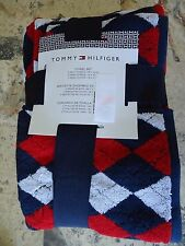 Tommy Hilfiger Towel Set Towels NWT 6  Pc Argyle Print 2 Bath 2 Hand 2 Face