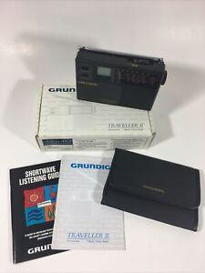 Grundig Traveller II 7-band Worldtime Travel Radio FM/MW/SW Alarm Clock