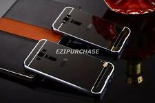 Aluminum Metal Mirror Bumper Case+PC Back Cover Skin For ASUS Zenfone Phone