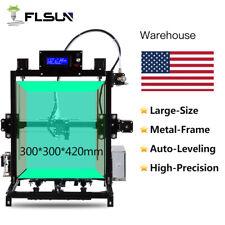 FLSUN Large Size 300x300x420mm I3 3D Printer Auto-leveling System Dual Z Motor