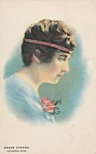 GRACE  CUNARD - 1910s THEATRE & SILENT MOVIE actress KLINE POSTER postcard/RARE