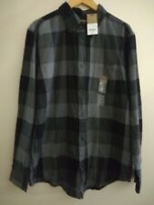 New & Tags Jc Penny Foundry Mens Lt Large Tall Button Shirt Black Herring Chck