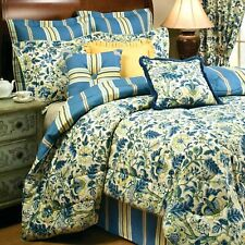 Waverly 14770BEDDKNGTSN Norfolk Reversible Quilt Collection,Tea Stain,King