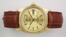 Rolex Genuine Leather Solid Gold Case Wristwatches