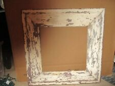 Antique wide wood frame. So shappy & primitive with old white paint. Architectur