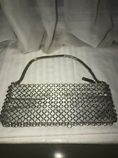 Vintage Whiting And Davis Silver Chainmail/mesh Evening Bag