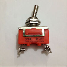 New AC 250V 15A 2 Screw Terminals ON/OFF SPST Latching Toggle Switch 1PCS Hot