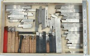 55 Machinist Mo-Max Latrobe TRW Hardened Steel Lathe Carbide Brazed Tool Bits