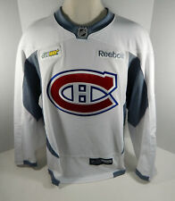 Montreal Canadiens Game Issued White Practice Jersey  MTL0070