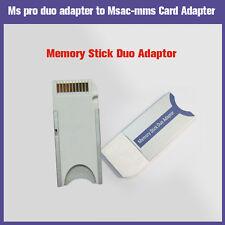 Lotto x2 Adattatore schede Memory Stick PRO Duo fotocamera digitale MSAC-M2NO