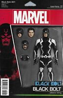Black Bolt Comic Issue 1 Limited Action Figure Variant Modern Age First Print