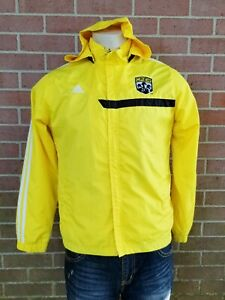 Adidas Columbus crew mls soccer Presentation Hooded Jacket Size Youth L, Mens S