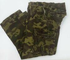 TCP The Children's Place Boys Green Camo Cargo Pants 10 Adjustable Waist