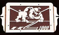 "cache / Grille de radiateur inox Kawasaki Z1000 03>06 ""Bulldog"" + grill. orange"