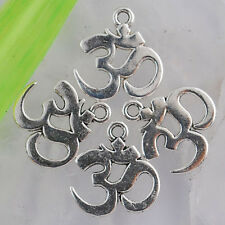 Ed1862 32pcs Tibetan silver budda sign charms