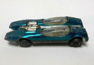 1968 Hot Wheels Redline SPLITTIN' IMAGE Aqua Blue Spectraflame Redlines Car