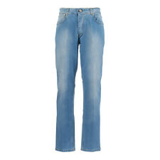 CESARE ATTOLINI Denim Jeans 34Us / 50Eu Light Blue Stonewashed Made in Italy