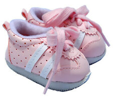 Light Pink Sneakers with White Stripes Fits 18 inch American Girl Dolls