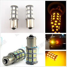 2 x 1156 BA15S T20 Yellow 18SMD 5050 Tail Turn Signal 18 LED Car Light Bulb Lamp